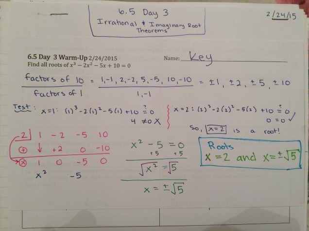 polynomial long division – Math by the Mountain