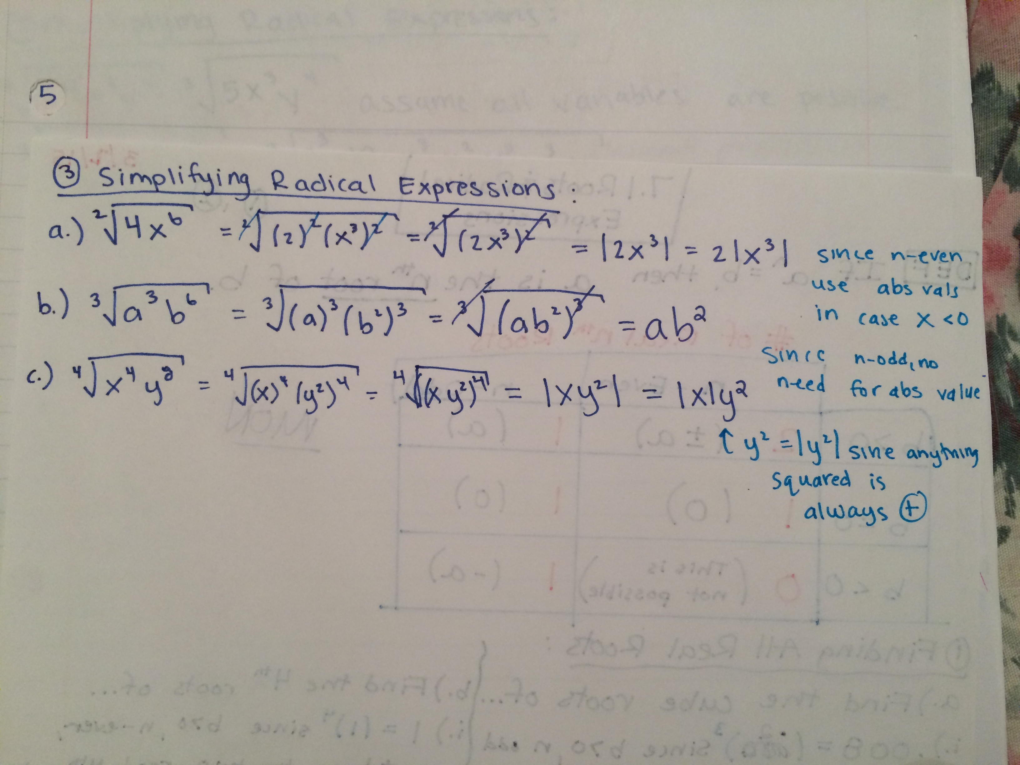 simplifying radical expressions – Math by the Mountain