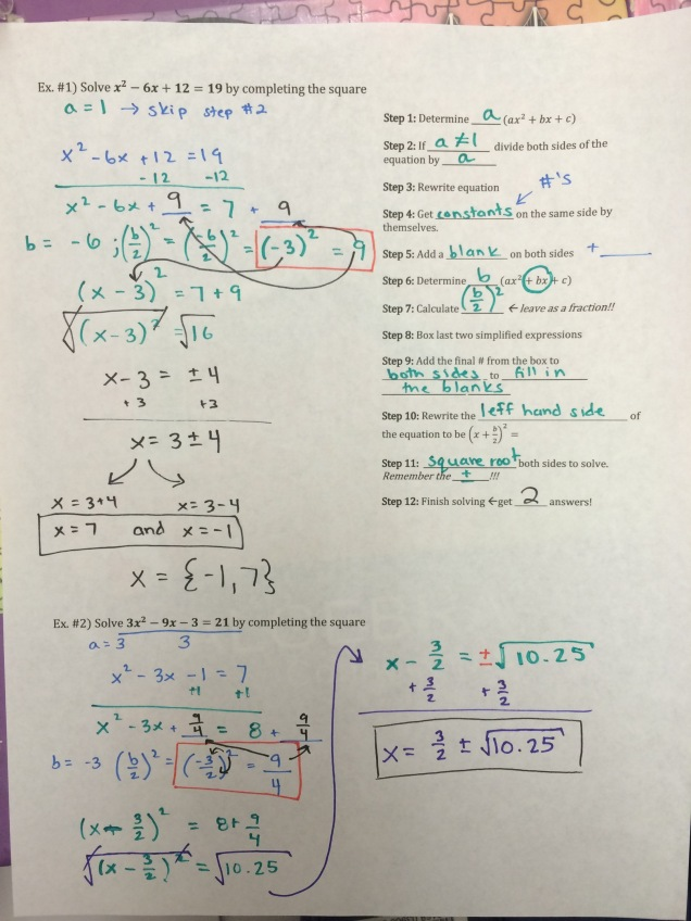 Algebra 1 – Page 2 – Math by the Mountain