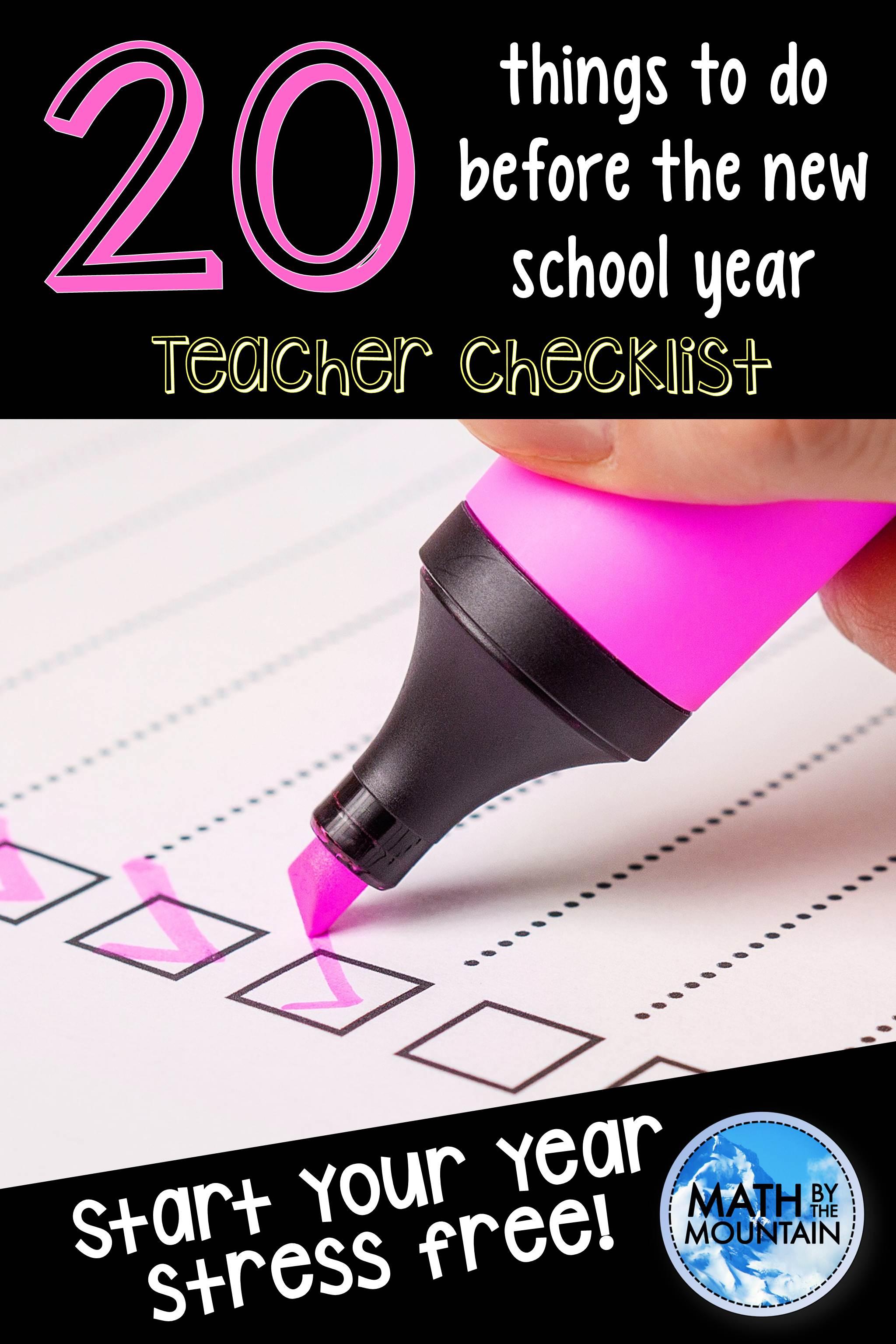 bts teacher checklist