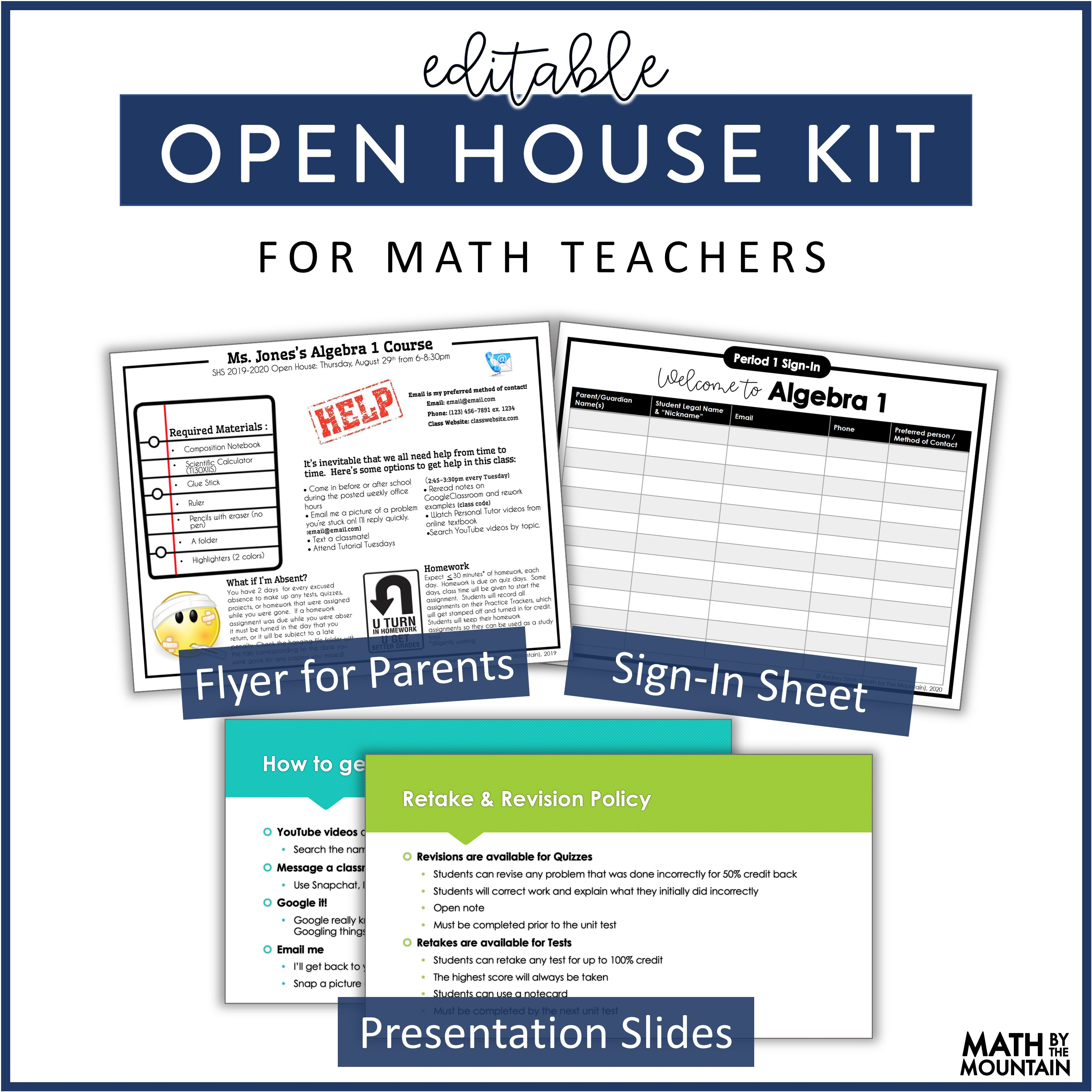 Open House Kit-Editable Freebie